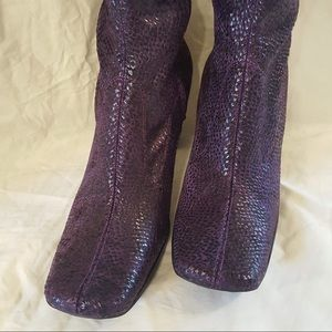 NEW CL by Launday purple faux snakeskin flats (shoes)     Size 8.5